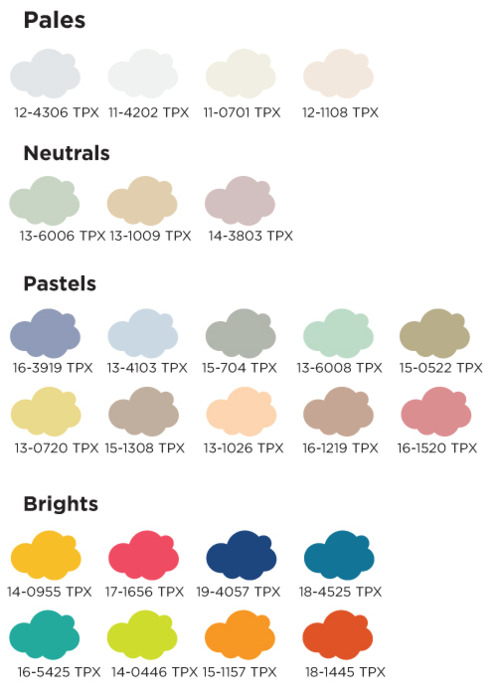 Colores claros y brillantes