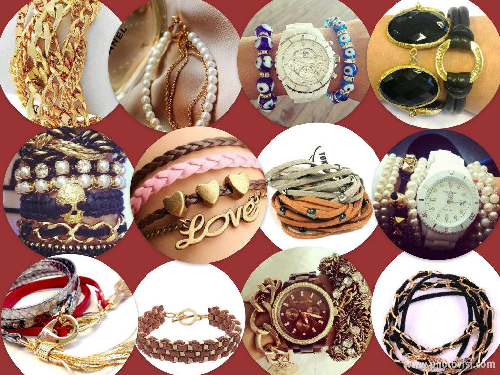 Collage con la tendencia en pulseras para este invierno de 2013