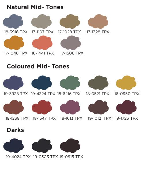Colores medios y oscuros