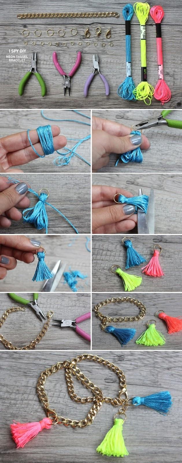 Otra técnica para hacer flecos o borlas