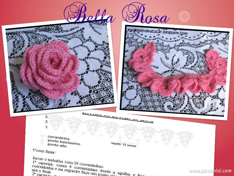 Rosa al crochet