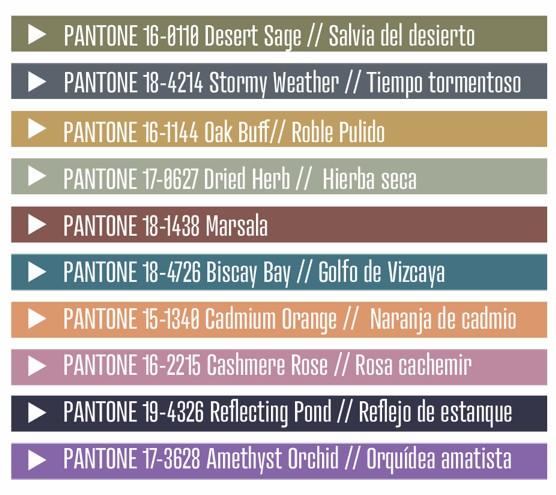 Paleta de colores 2015